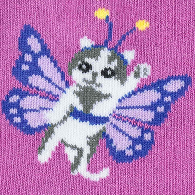 Catterfly Junior Crew Socks -- Decal