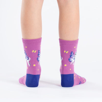 Catterfly Junior Crew Socks -- Heel