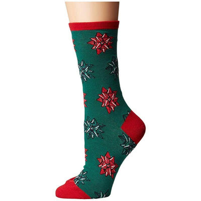 christmas-bows-socks-crew-socks-for-women