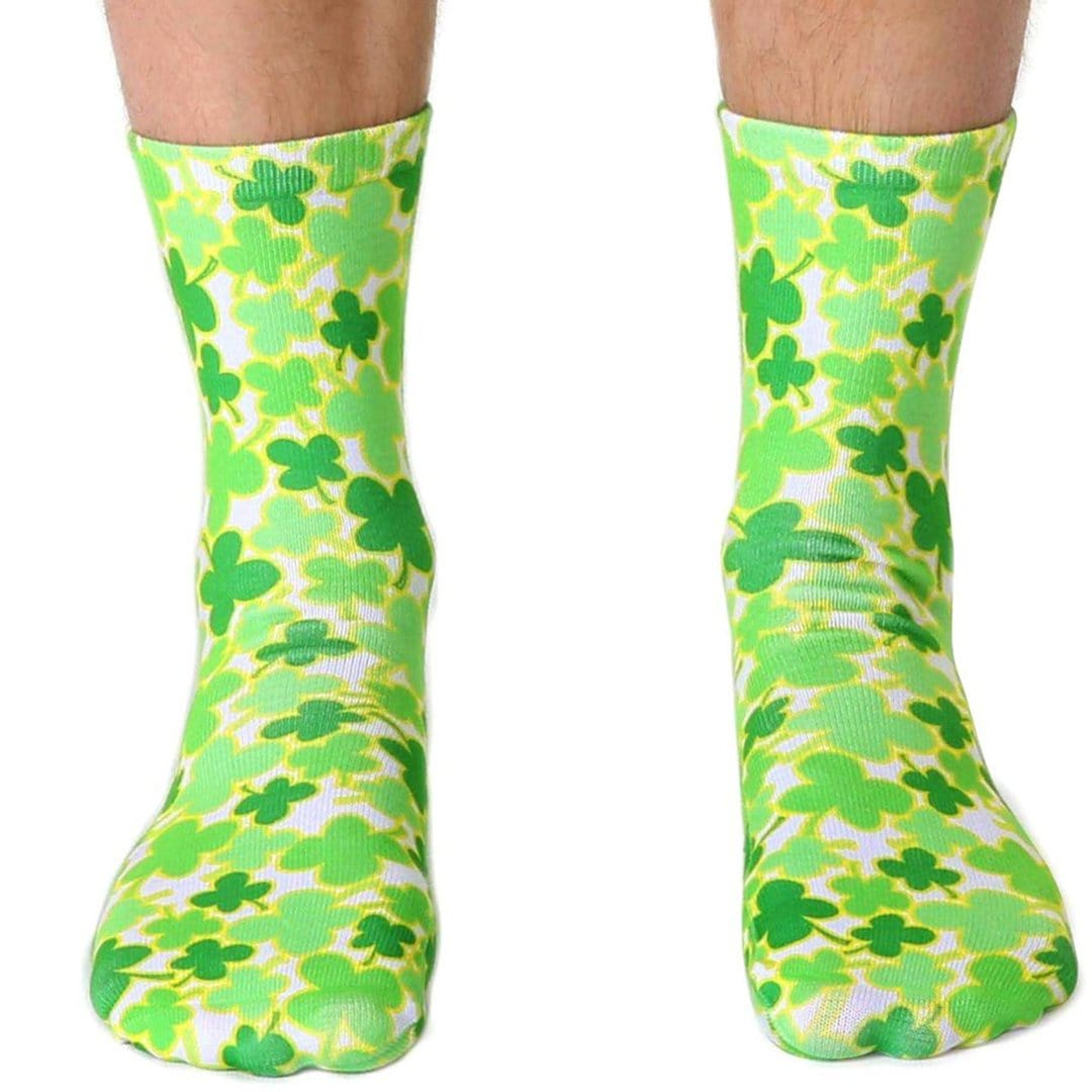 Four Leaf Clover Socks Unisex Crew Sock