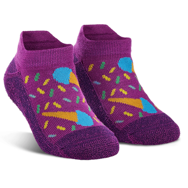 Kiara's Comeback Cones Ankle Sock Purple / Kiddos