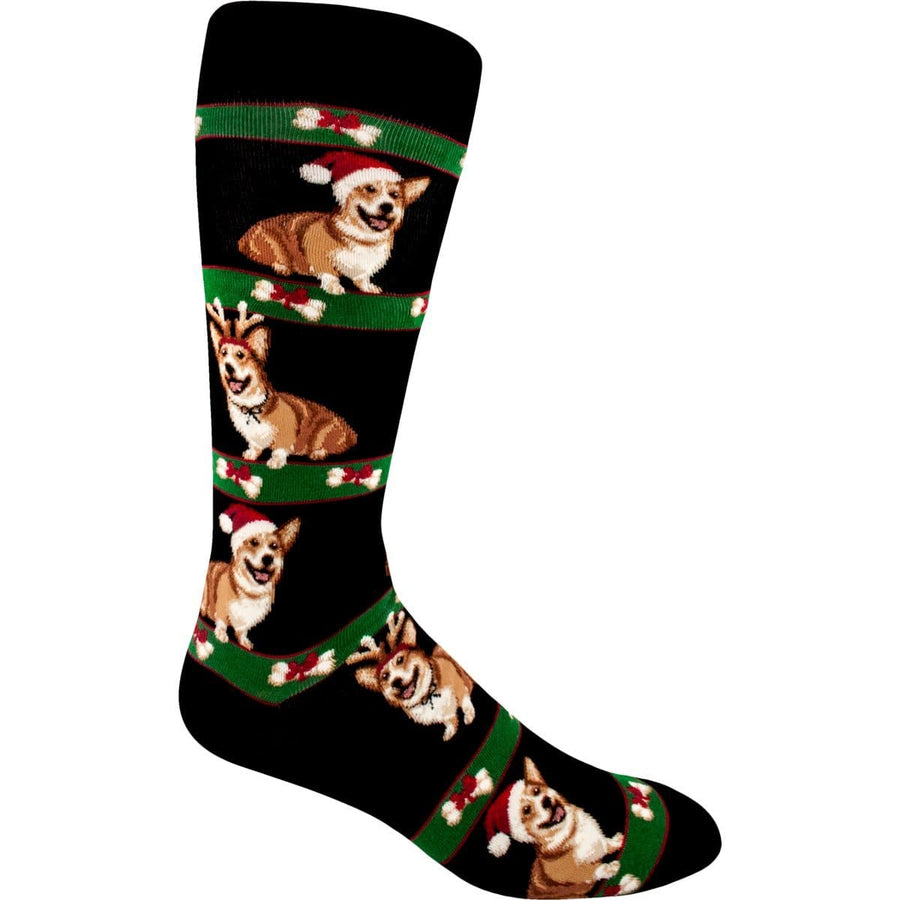 Corgi Christmas Socks