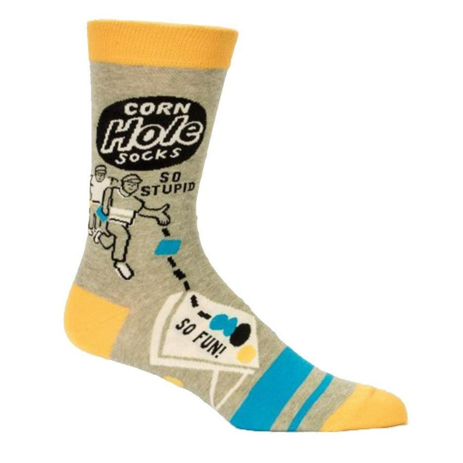 Corn Hole Socks Men's Crew Sock yellow