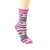 Breast Cancer Awareness Socks Women's Crew Sock Hope Cure Faith Strong / Pink