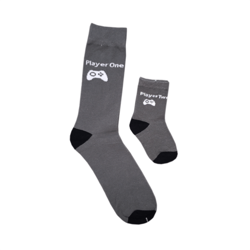 Daddy and Me Video Game Crew Socks for Dad's and Sons