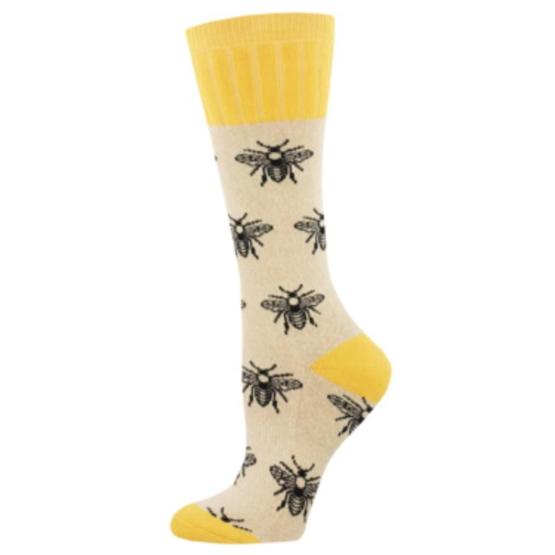 Bee Hiking Socks Women's Crew Sock yellow