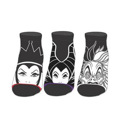 Disney Villains Ankle Socks 3 Pack