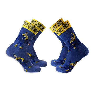 Down Syndrome Superhero Boy Socks Unisex Crew Sock