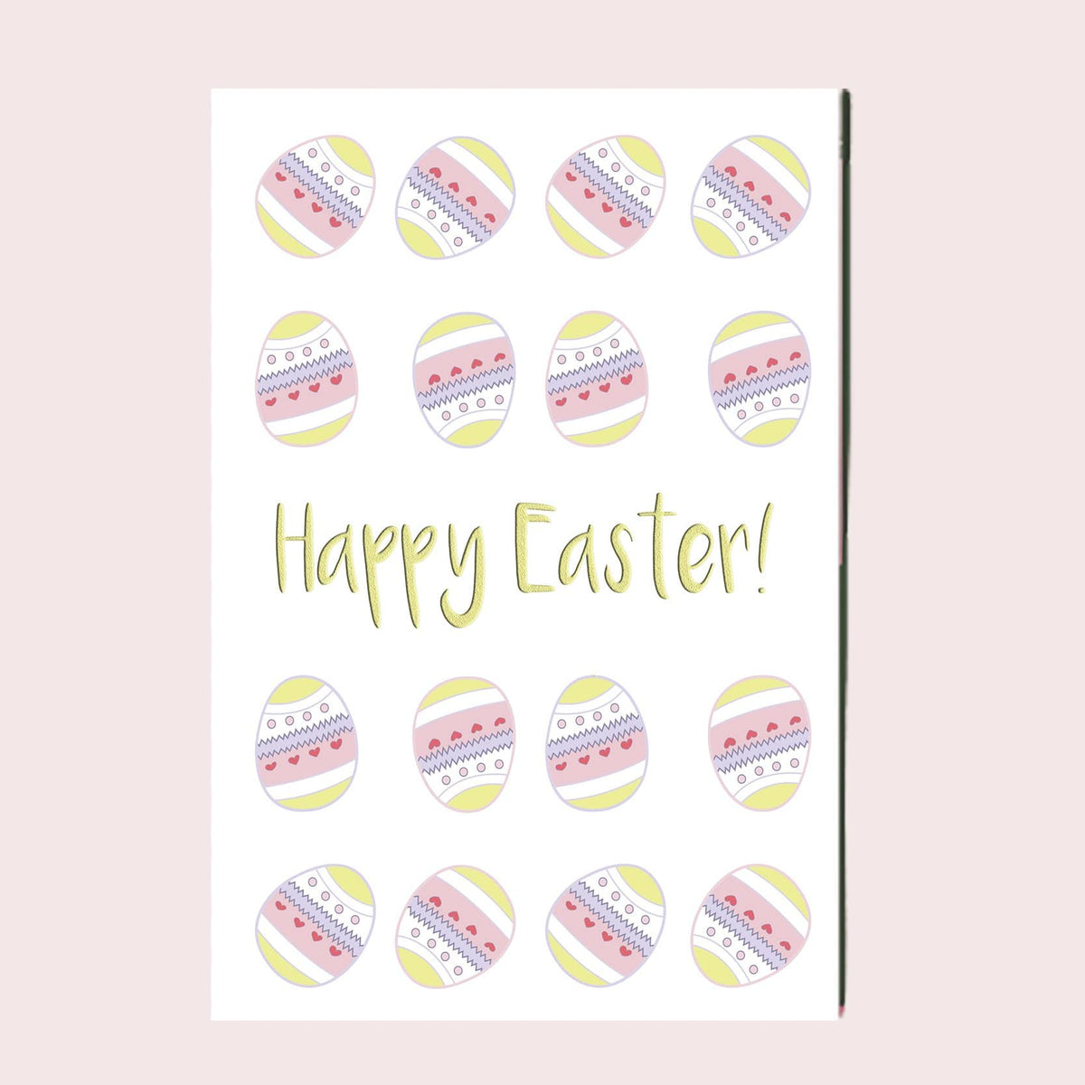 Happy Easter Egg Greeting Card Single Card