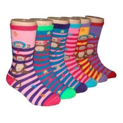 monkey-love-socks-for-children-ages-4-7-3-pack