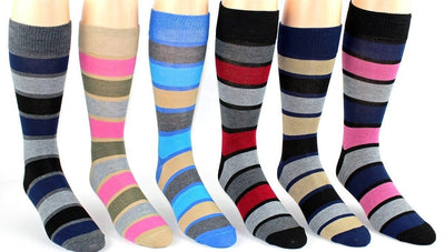Casual Stripe Pattern Socks Men's Crew Sock