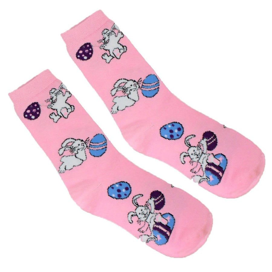 Easter Bunny and Eggs - Crew Socks for Women