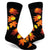 Fall Leaves Socks Men's Crew Sock