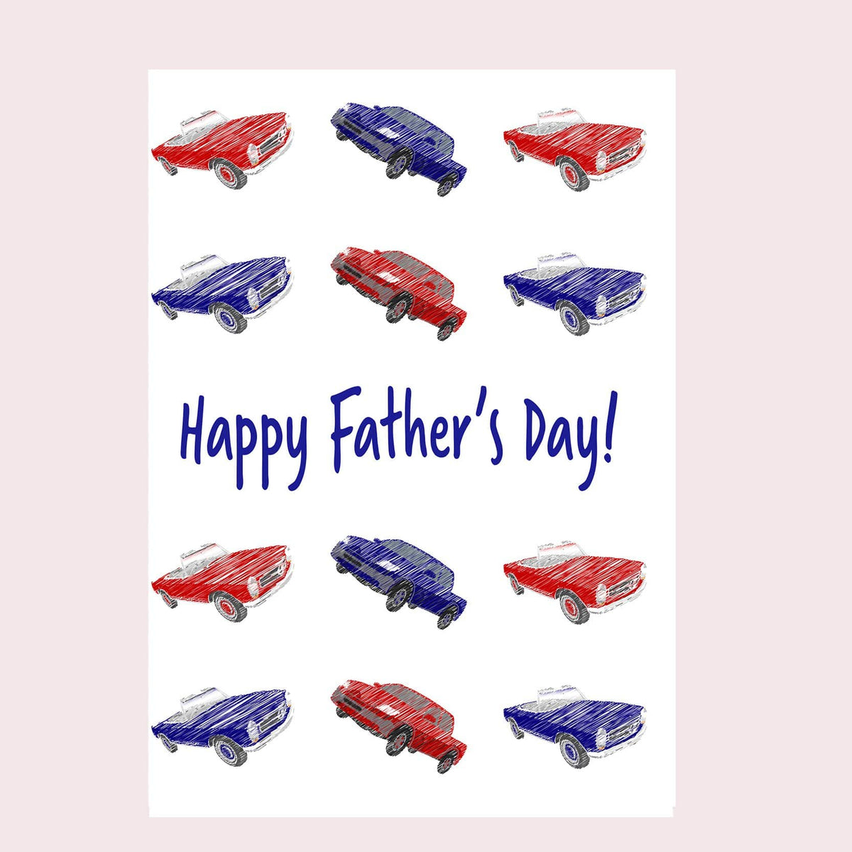 Father's Day Car Greeting Card Single Card