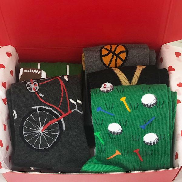 Sports Fan Box of Socks For Men