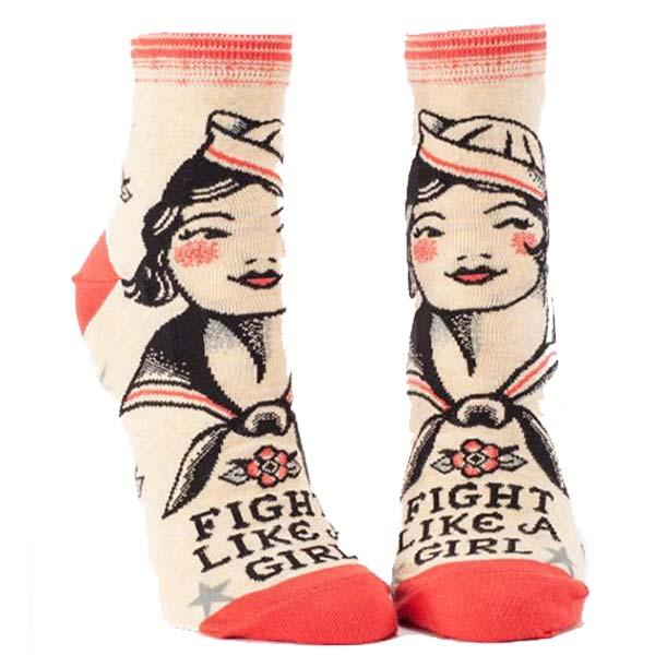 Fight Like a Girl Socks Women's Ankle Sock