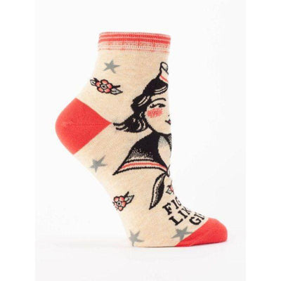 fight-like-a-girl-socks-crew-socks-for-women