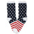 Star Spangled  Socks Women's Crew Sock Navy / White