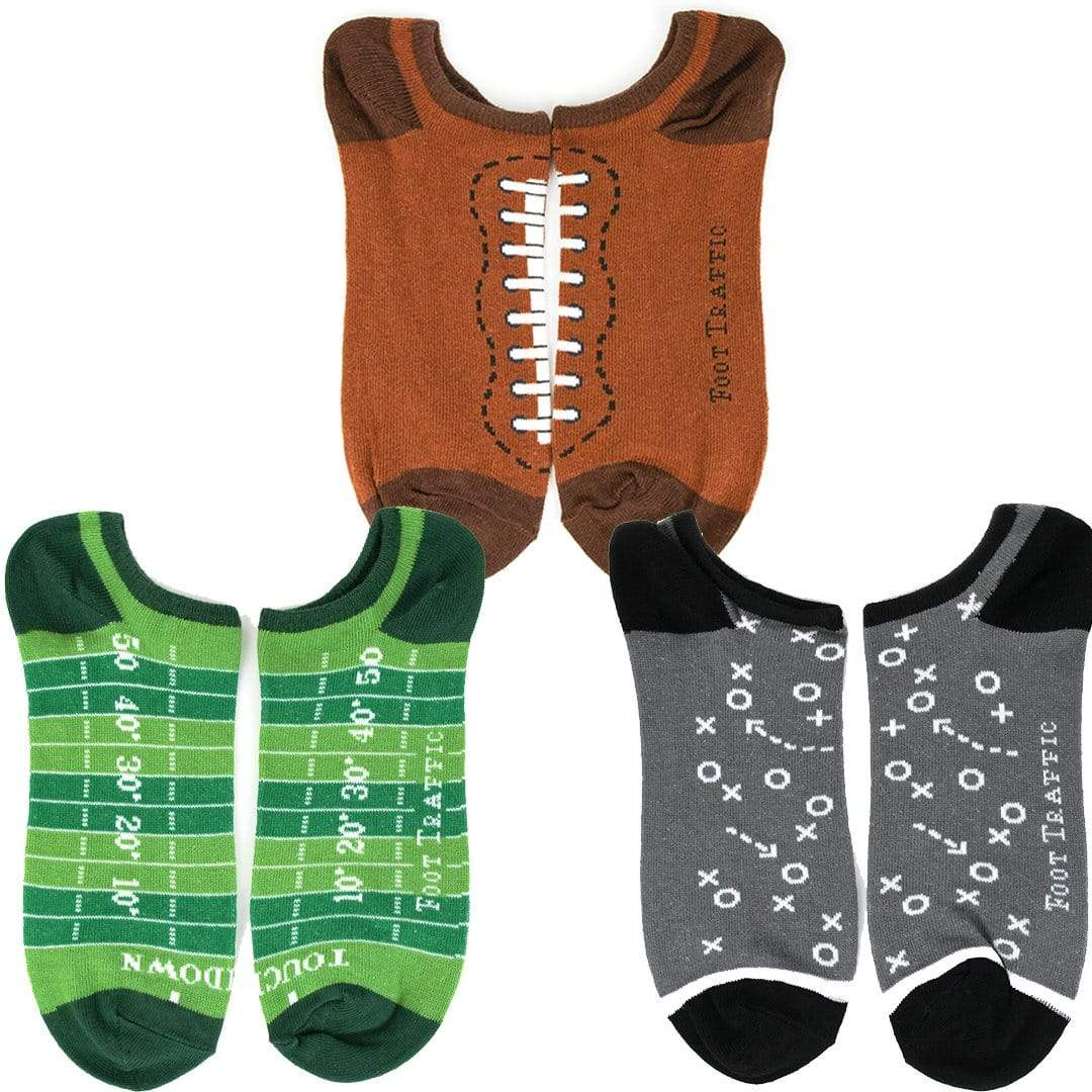Football No Show Men's 3 Pack