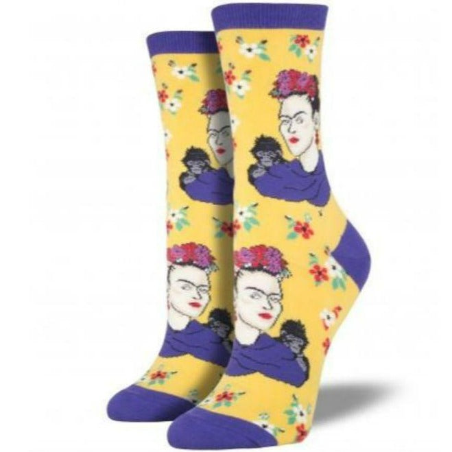 frida-kahlo-womens-crew-socks