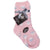 Dot Print Fuzzy Kids Socks Kids / Pink