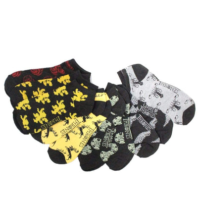 "Game of Thrones ""Thrones All Over"" – 6 Pack Ankle Socks"