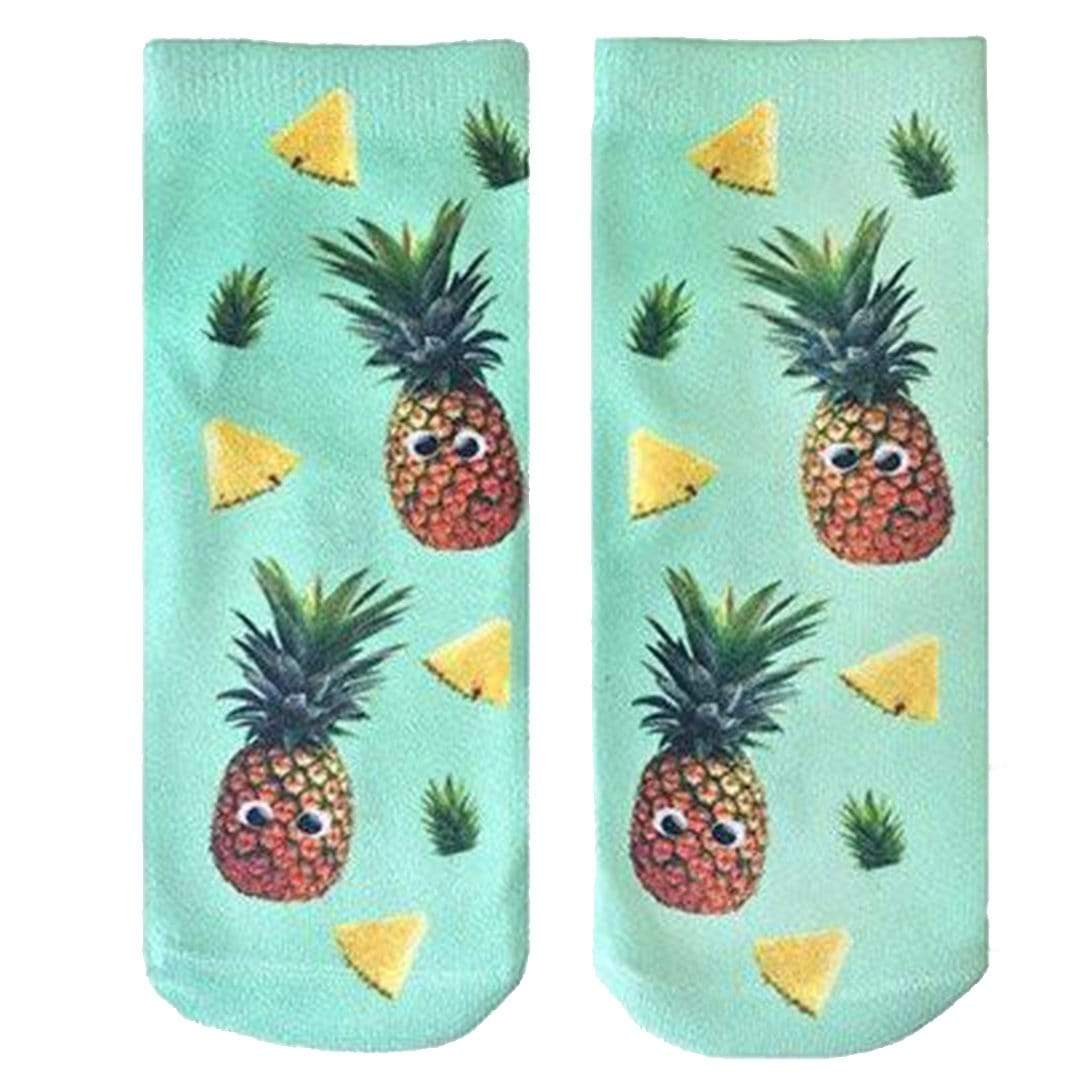 Googly Pineapple Socks Ankle Sock Green