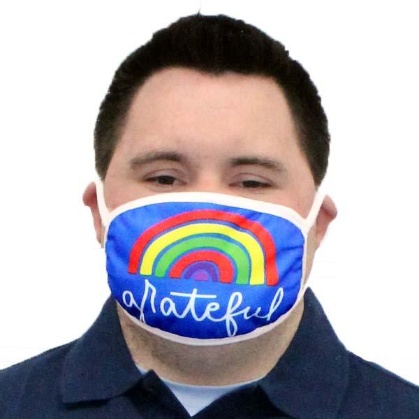 Grateful Rainbow Face Mask
