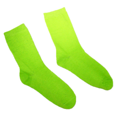 Brightly Colored Socks - Crew Socks for Women-Green