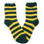 Fuzzy Green Yellow Striped Socks Women's Ankle Sock