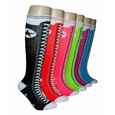 Sneaker Knee High Socks