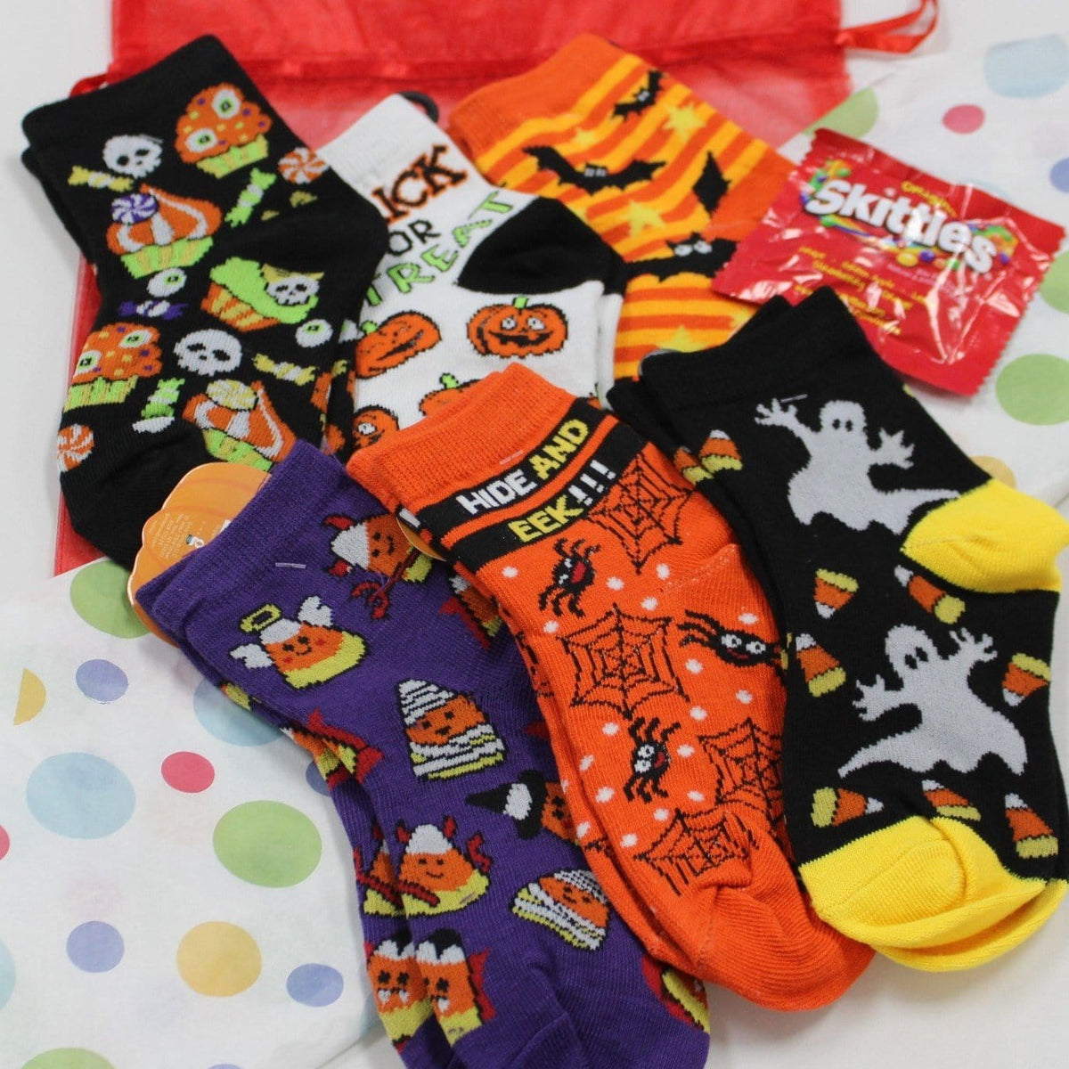 Children's Halloween Bag of Socks Multi