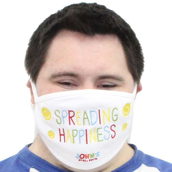 Spreading Happiness Face Mask White