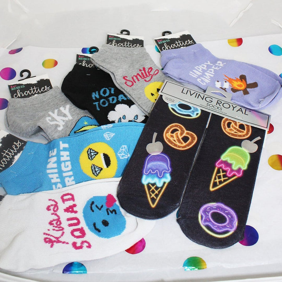 Happy Camper Summer Gift Bag Of Socks