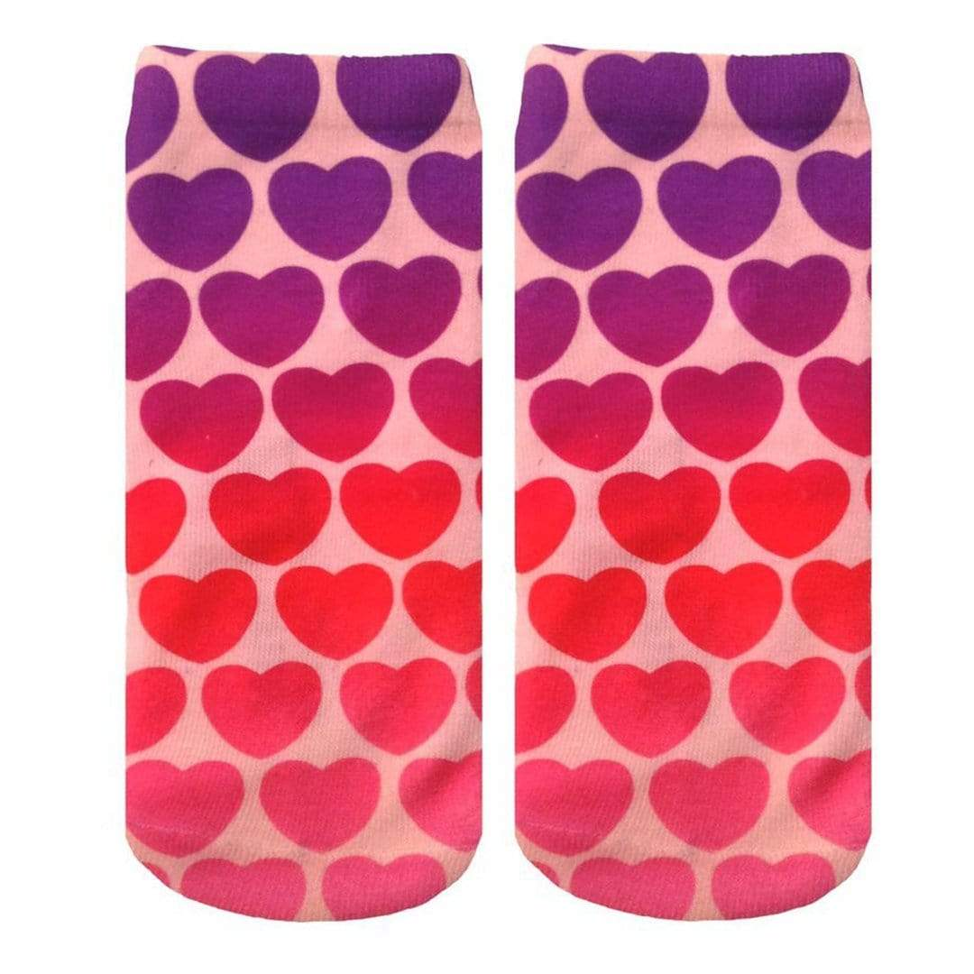 Melting Hearts Socks - Ankle Sock Pink