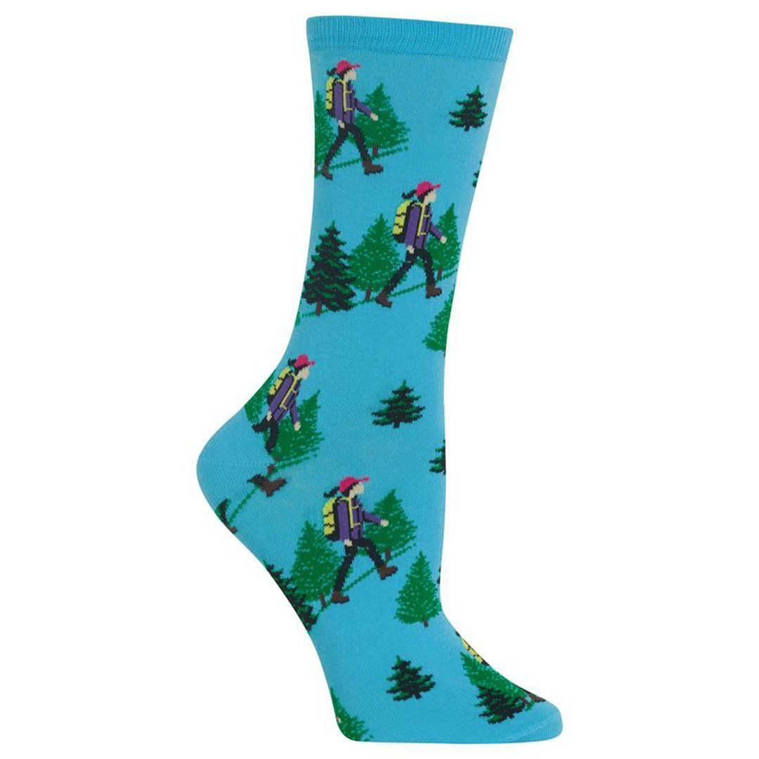 Hiker Socks Women's Crew Sock Blue