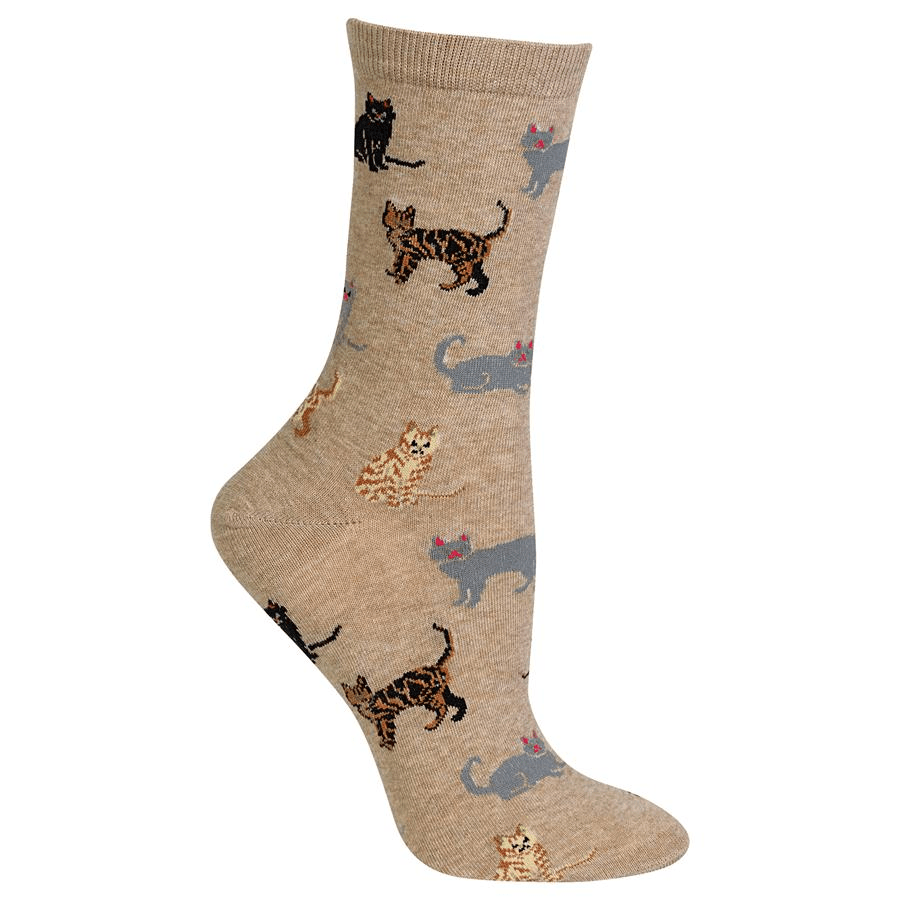 Classic Cat Socks -- Black
