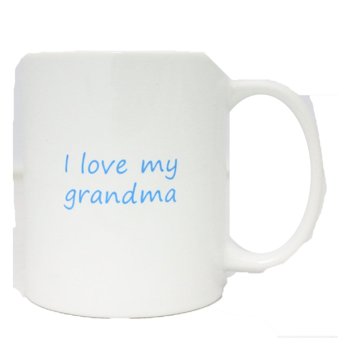 "John's Crazy Socks Mug – ""I Love My Grandma"""