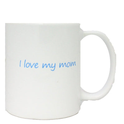 "John's Crazy Socks Mug – ""I love my mom"""