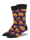 Jack O Lantern Fun Men's Crew Sock