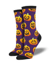 Jack O Lantern Fun Women's Crew Socks