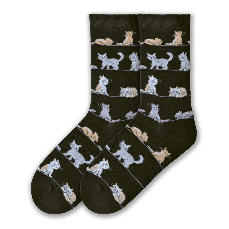 Cats Socks Women's Crew Sock Black