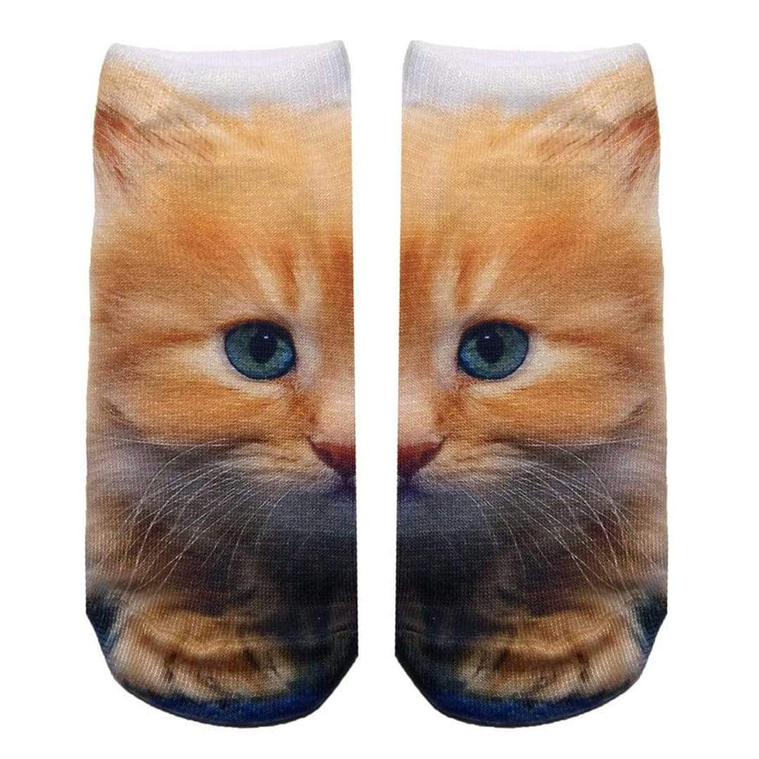 Kitty Socks  Ankle Sock Yellow