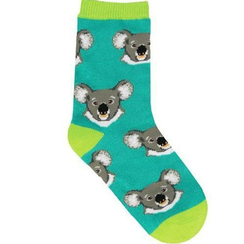 I Love Eucalyptus Children's Sock Teal