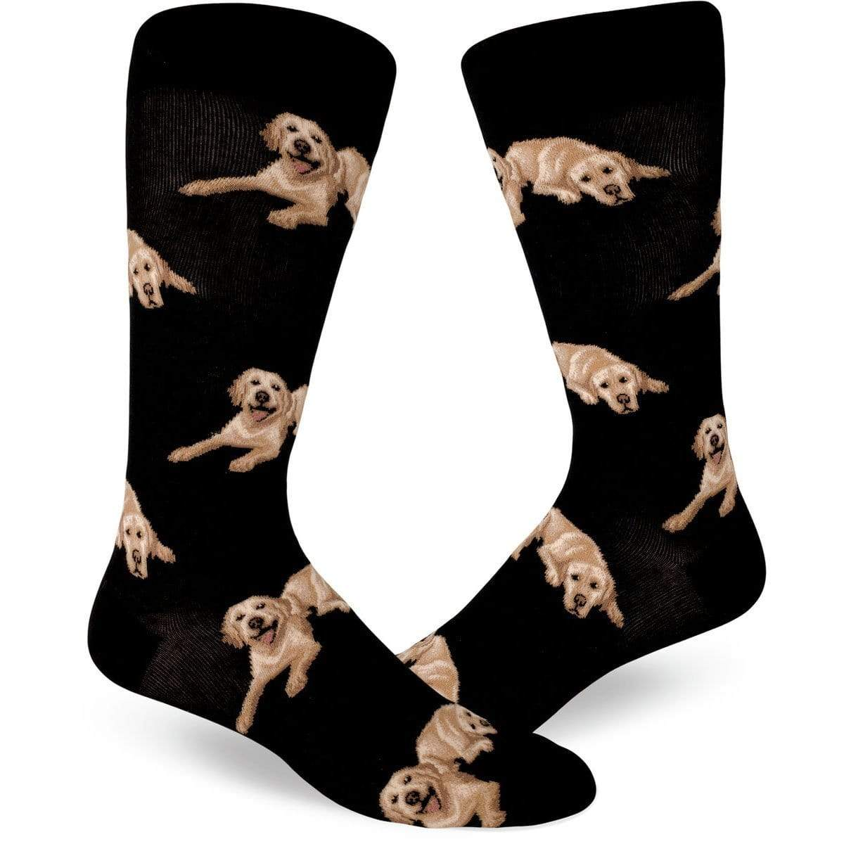 labrador dog crew socks for men
