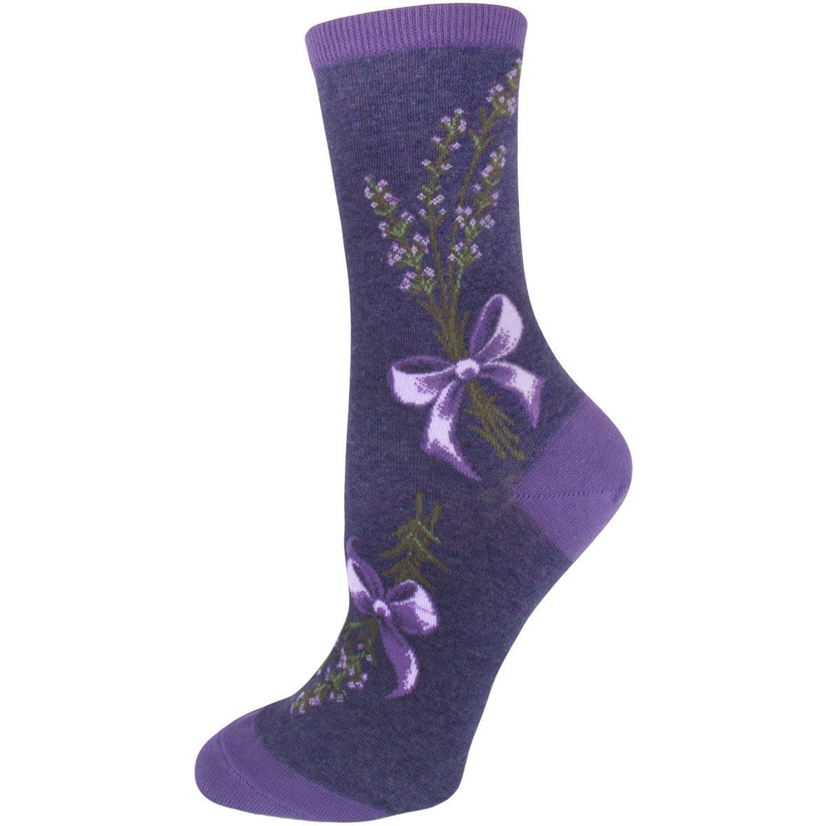 Lavender Harvest Socks Women's Crew Sock purple