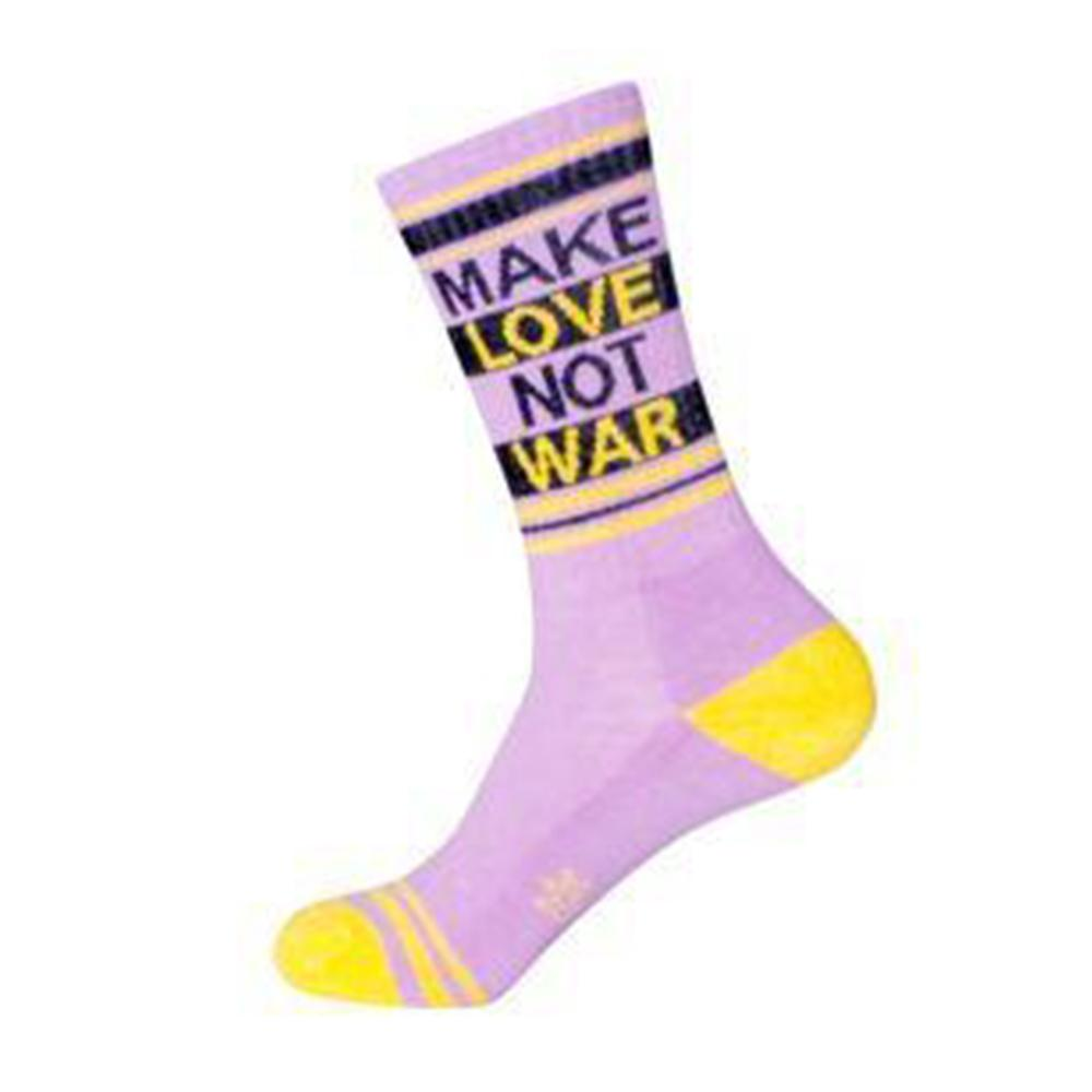 Make Love Not War Socks Unisex Crew Sock