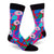 Love Donuts Men's Crew Sock Blue