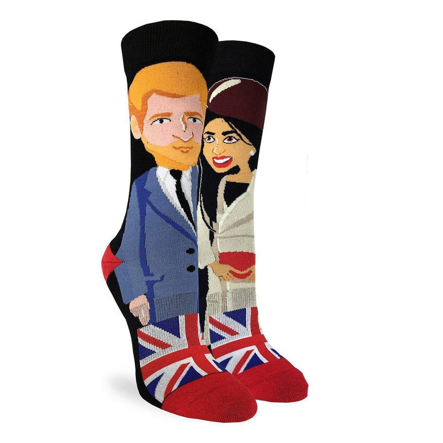 Prince Harry & Meghan Markle Socks Women's Crew Sock