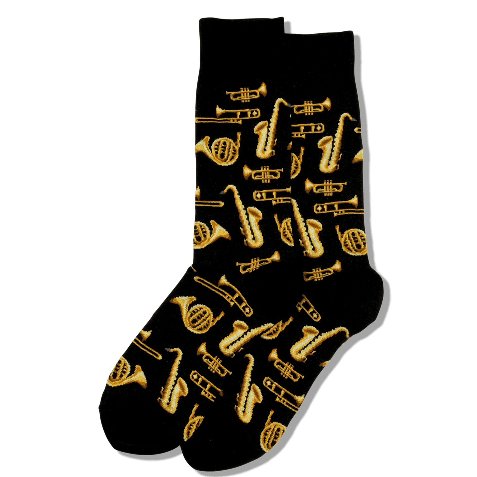 Jazz Instruments Socks Men's Crew Sock Black